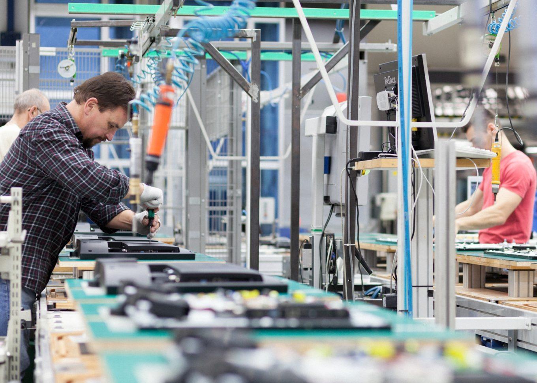 Loewe Produktionsstrasse